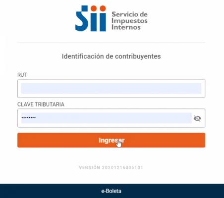 ingreso app boleta sii